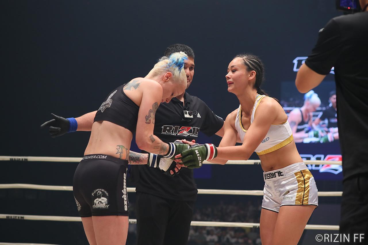 画像3: 第2試合 真珠・野沢オークライヤー VS. シーナ・スター(試合結果詳細)RIZIN FIGHTING WORLD GRAND-PRIX 2017 バンタム級トーナメント 1st ROUND -夏の陣-
