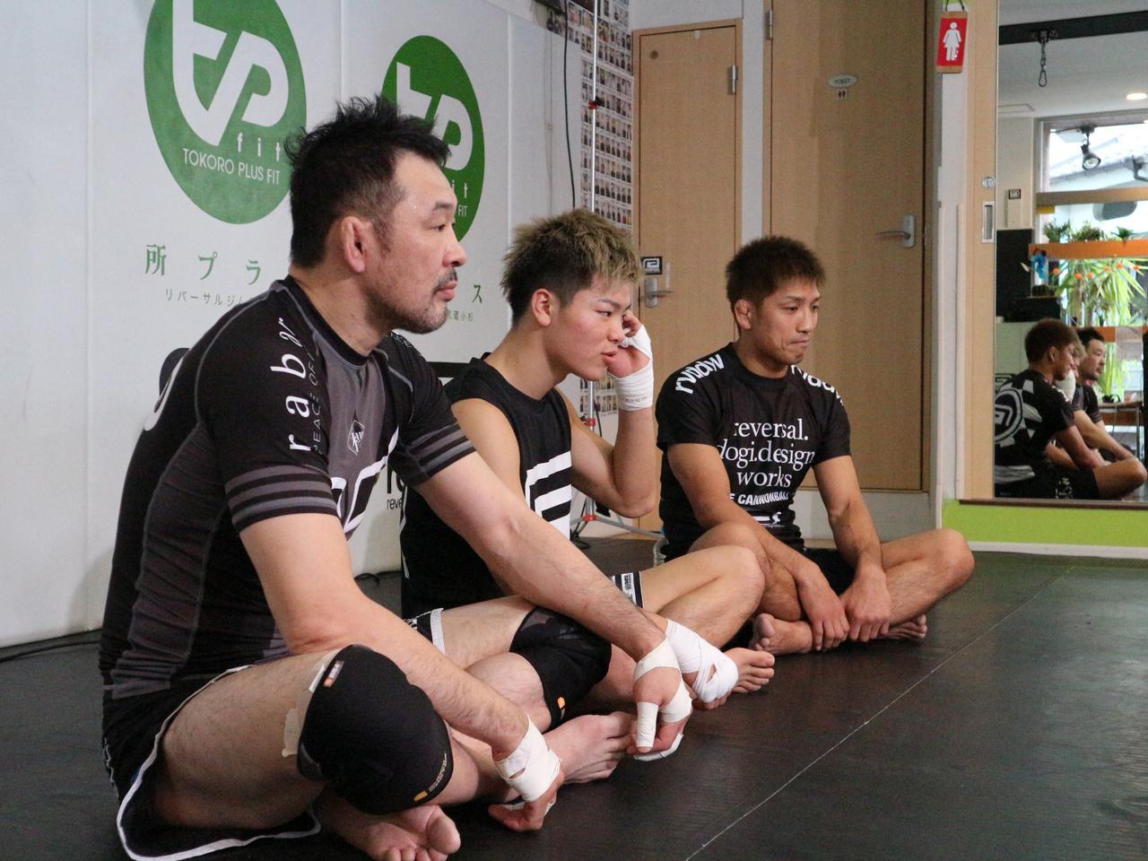 画像3: RIZINマリンメッセ福岡大会まであと10日と迫った今日、那須川天心が公開練習を敢行。 また桜庭和志、所英男からもMMAにおける戦術が伝授された。