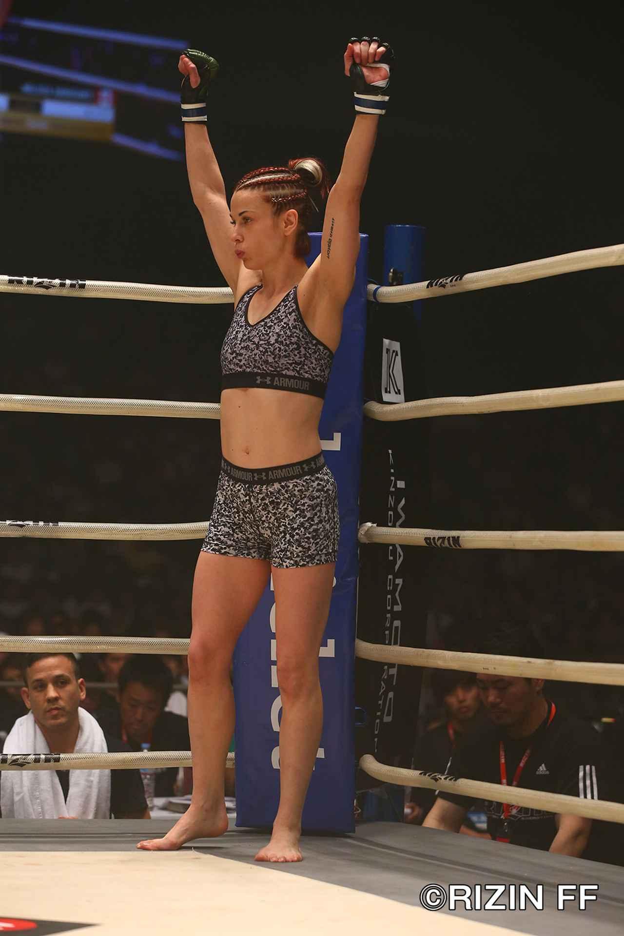 画像1: 女王カンナの2018年初戦は判定勝ち そして試合後、RENAがリマッチを要求!
