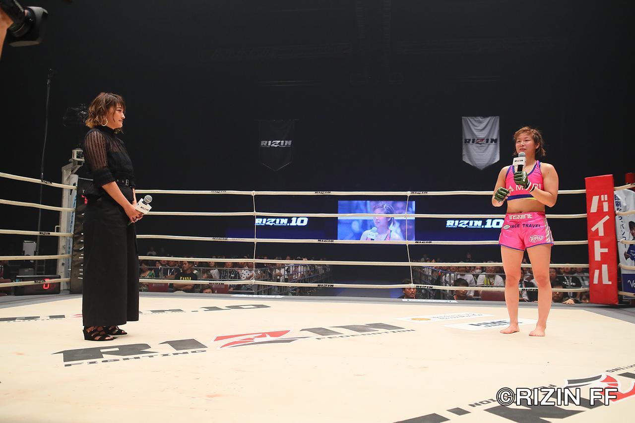 画像7: 女王カンナの2018年初戦は判定勝ち そして試合後、RENAがリマッチを要求!