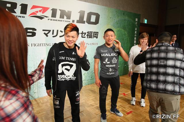 画像: 左から那須川天心、堀口恭司、浅倉カンナ