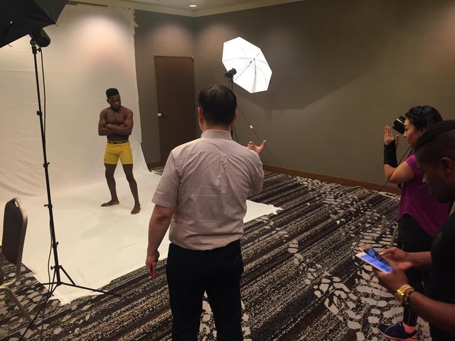 画像: 選手が実際に撮影する会場をそのまま使用。RIZINファイターと全く同じ体験が出来る。