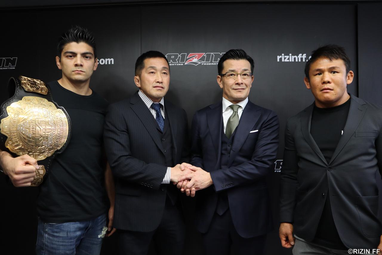 画像: REAL山田代表とRIZINの紳士協定が結ばれた発表も行われた