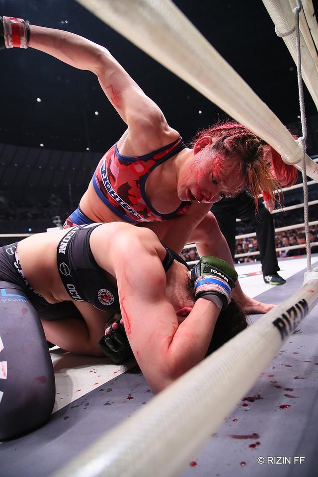 画像2: 【試合結果】RIZIN.15 第5試合 渡辺華奈 vs. ヤスティナ・ハバ