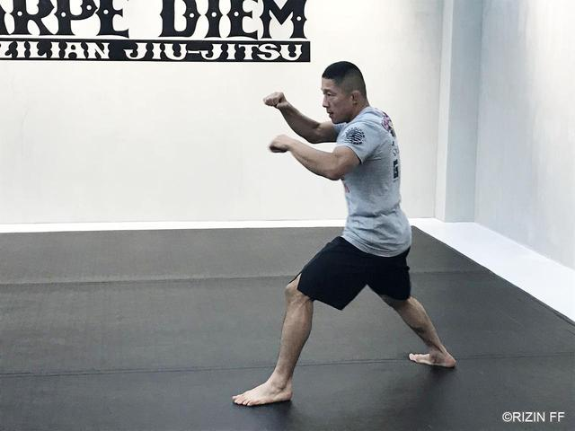 画像: 堀口選手の公開練習を見学。