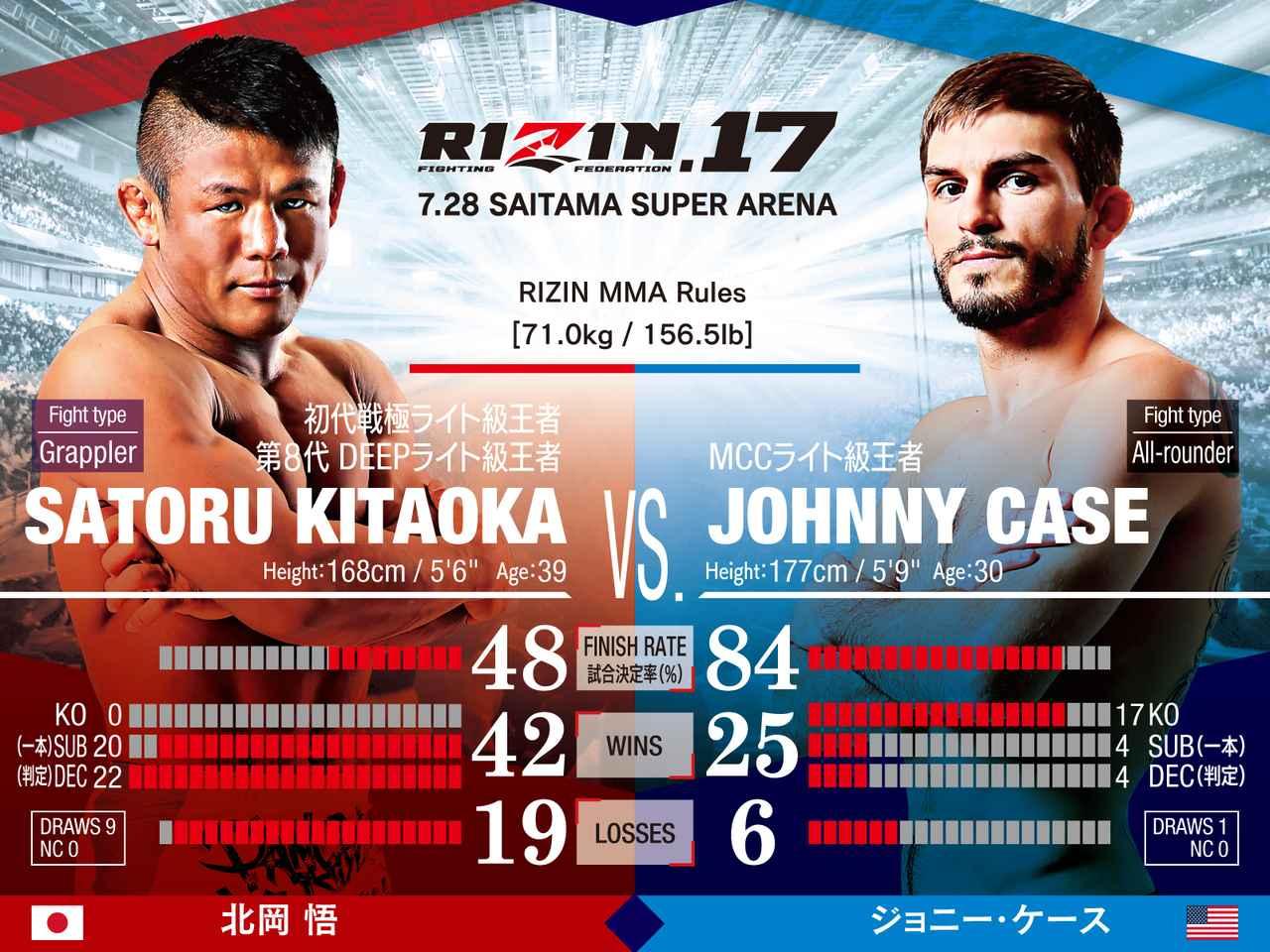 画像: 北岡悟 VS. ジョニー・ケース