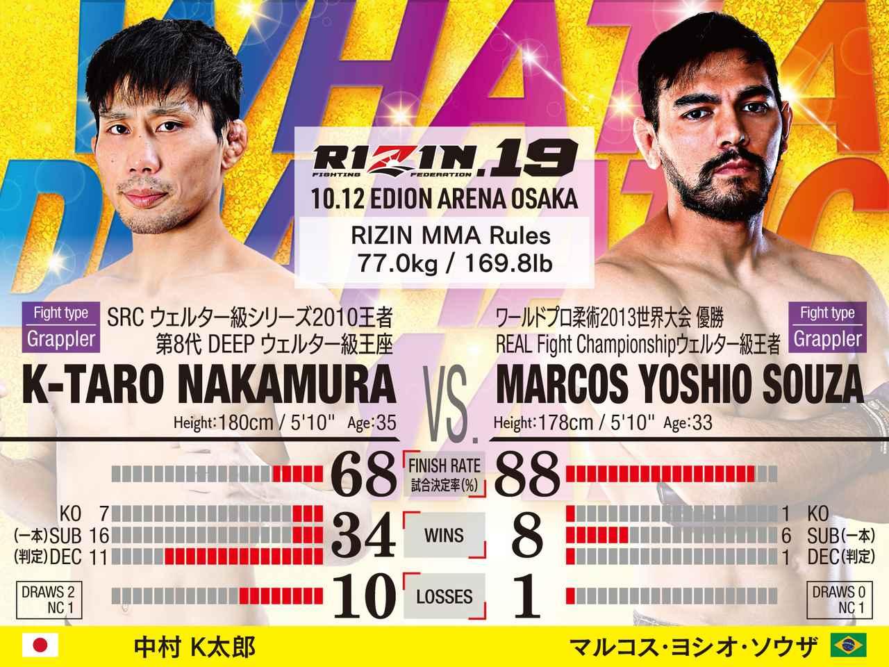 画像: 第5試合/中村K太郎 VS. マルコス・ヨシオ・ソウザ