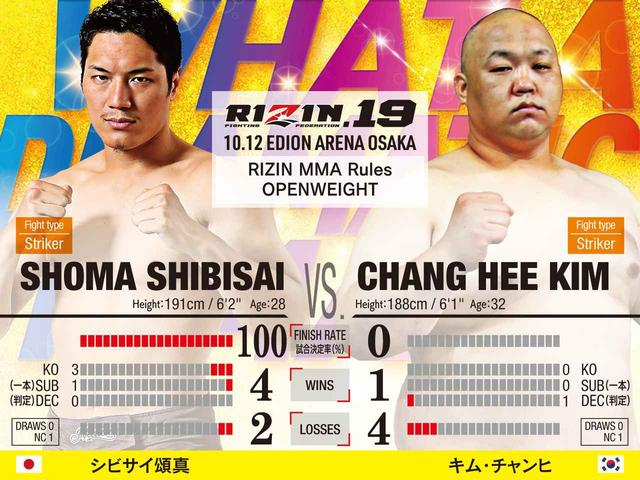 画像: 第2試合/シビサイ頌真 vs. キム・チャンヒ