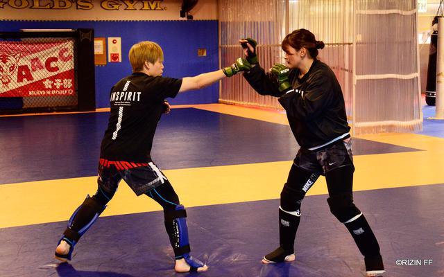 画像2: 「打撃は強くなっている自負はある、打ち合えるところはしっかり打ち合いたい」RIZIN.20でハム・ソヒとタイトルマッチに挑む浜崎朱加の練習を公開!