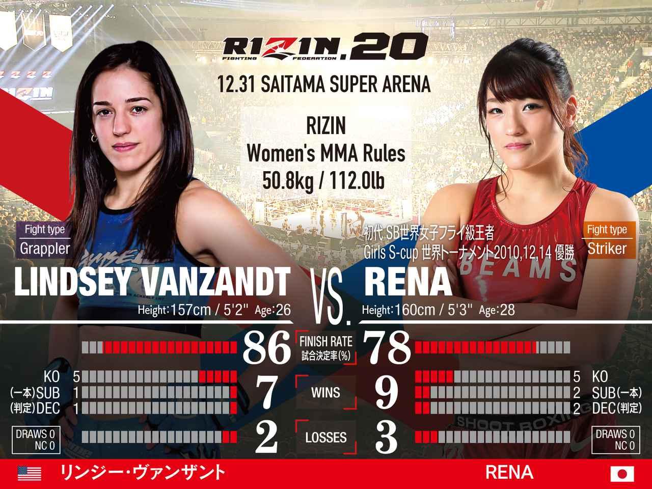 画像: 第11試合/スペシャルワンマッチ リンジー・ヴァンザント vs. RENA