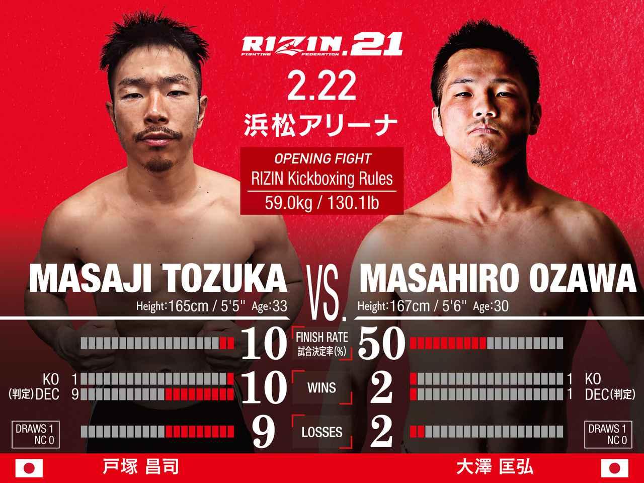 画像: OPENING FIGHT 第1試合/ 戸塚昌司 vs. 大澤匡弘