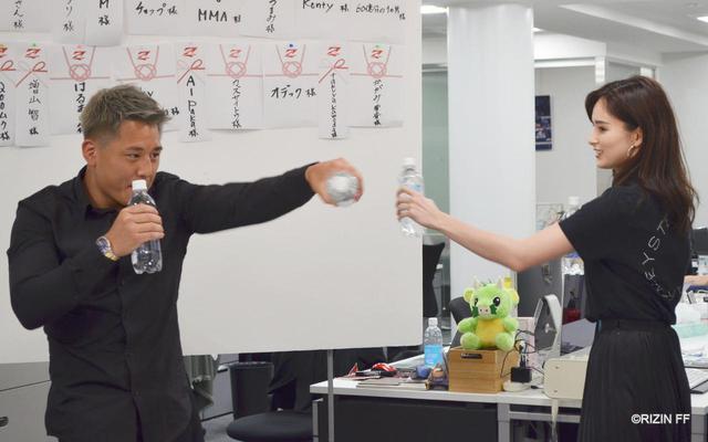 画像4: 大雅がペットボトル持ちシャドーボクシングを紹介!第6回 「榊原社長に呼び出されました」