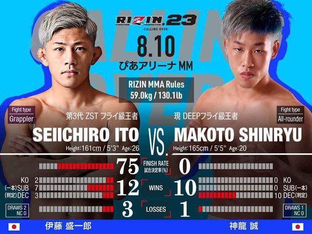 画像: 第4試合/スペシャルワンマッチ 伊藤盛一郎 vs. 神龍誠