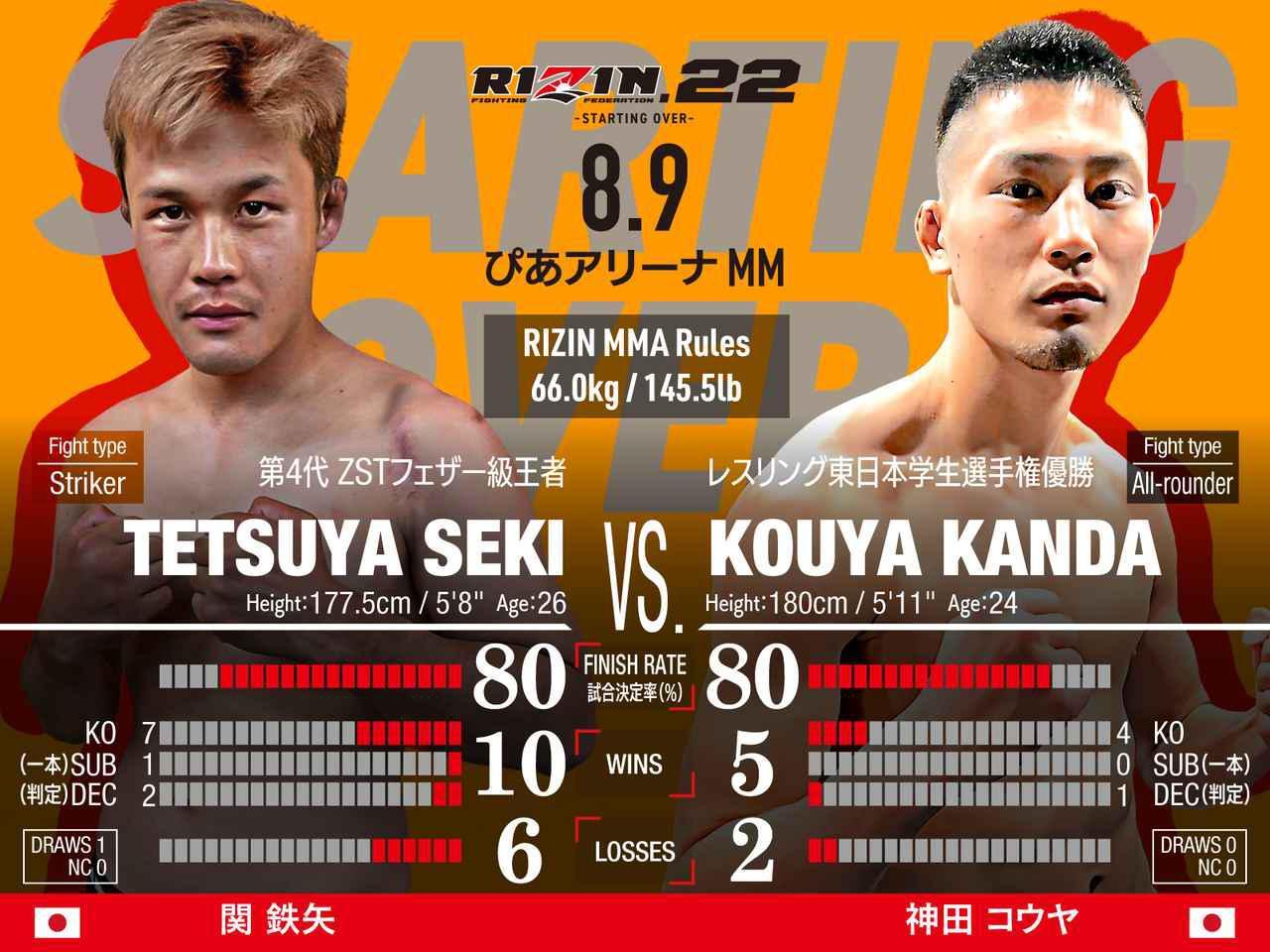 画像: 第3試合/スペシャルワンマッチ 関鉄矢 vs. 神田コウヤ