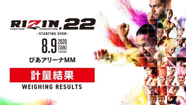 画像: 矢地vs.サトシ含め、全選手が計量クリア!RIZIN.22 計量結果 - RIZIN FIGHTING FEDERATION オフィシャルサイト