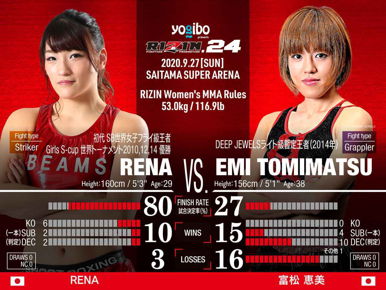 画像: スペシャルワンマッチ RENA vs. 富松恵美