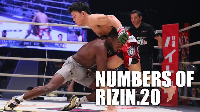 画像: NUMBERS OF RIZIN.20 〜数字で大会を振り返る〜 - RIZIN FIGHTING FEDERATION オフィシャルサイト