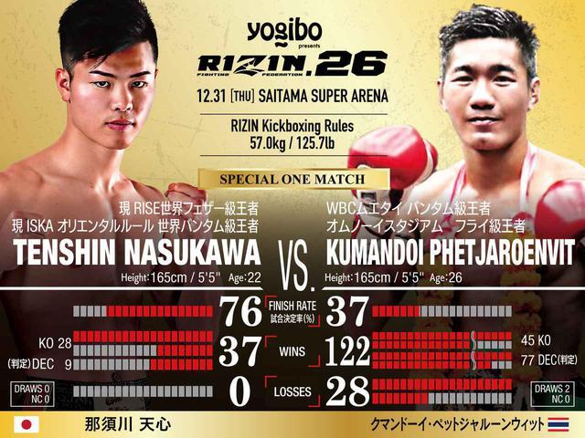 画像: 第14試合 スペシャルワンマッチ/那須川天心 vs. クマンドーイ・ペットジャルーンウィット