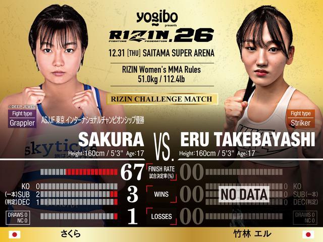 画像: オープニングマッチ RIZINチャレンジマッチ/さくら vs. 竹林エル