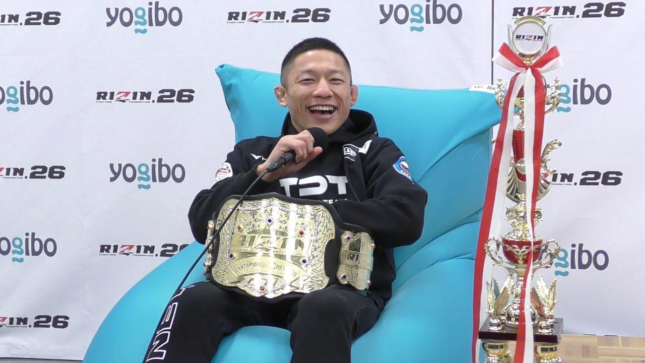 画像: Yogibo presents RIZIN.26 堀口恭司 試合後インタビュー youtu.be