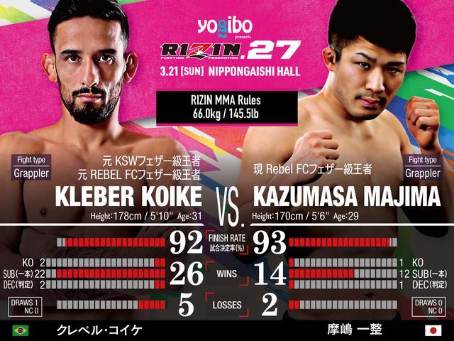 画像: Kleber Koike vs Kazumasa Majima