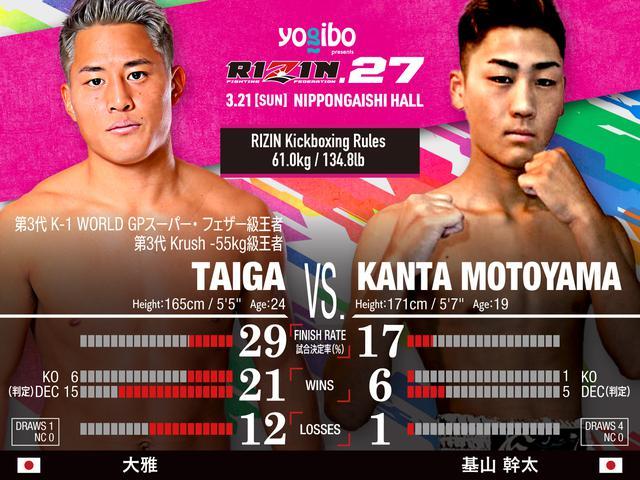 画像: Taiga vs Kanta Motoyama