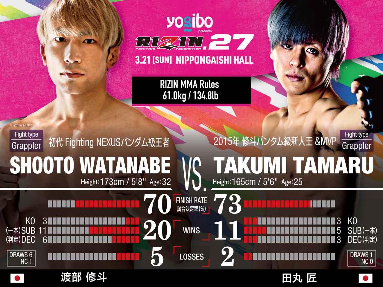 画像: Shooto Watanabe vs Takumi Tamaru