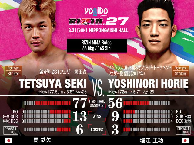 画像: Tetsuya Seki vs Yoshinori Horie