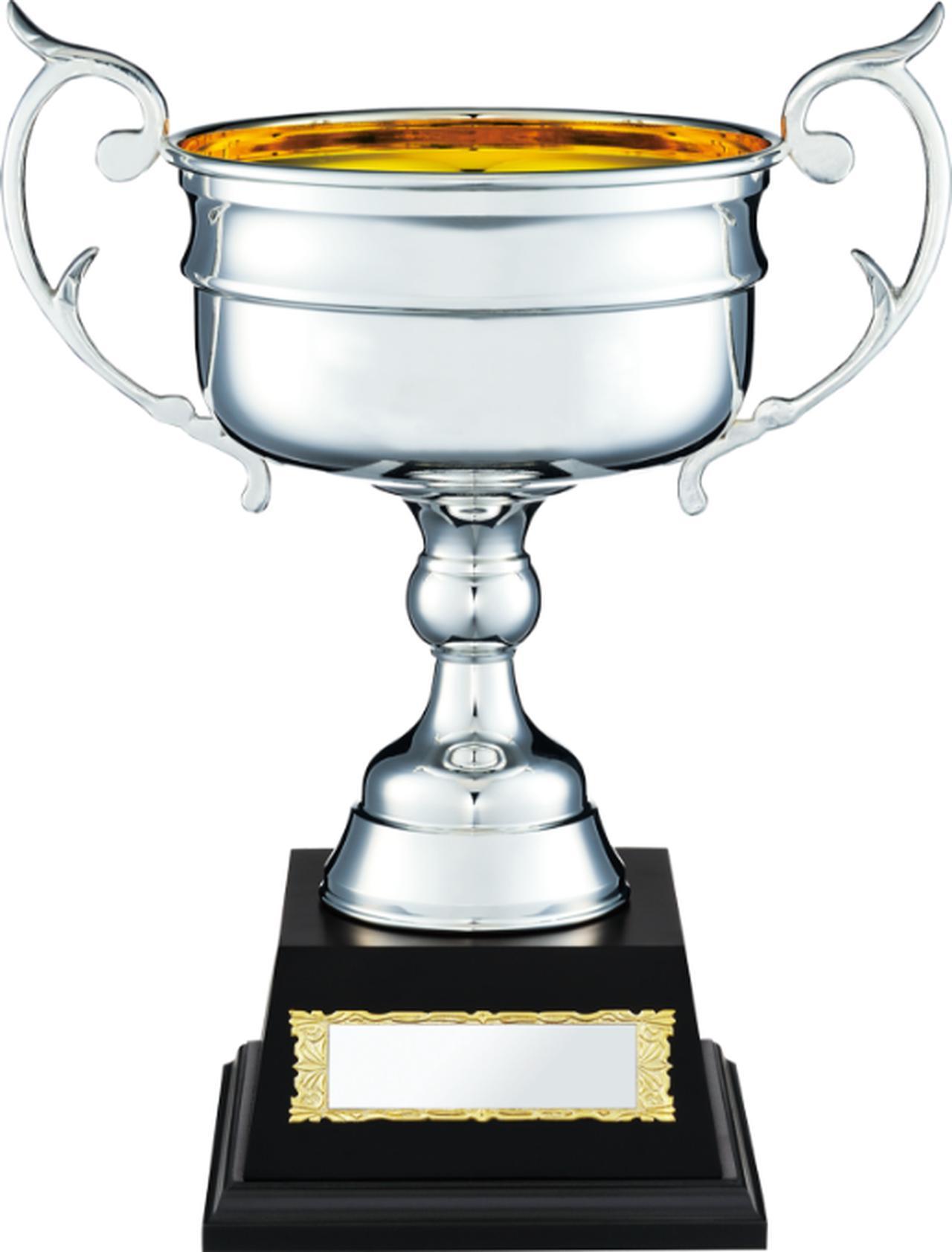 画像: Japan Trophy 優勝カップ(真鍮・木製台 木製ケース入り)