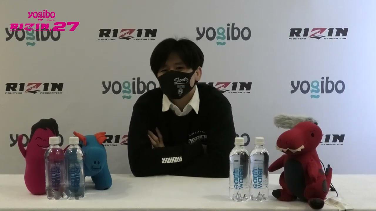 画像: Yogibo presents RIZIN 27 田丸匠 試合前インタビュー youtu.be