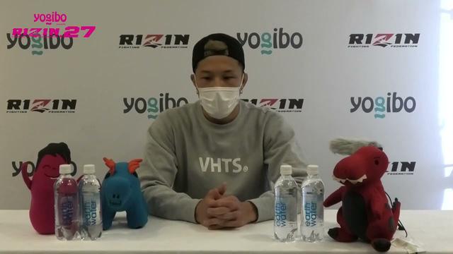 画像: Yogibo presents RIZIN 27 徳留一樹 試合前インタビュー youtu.be