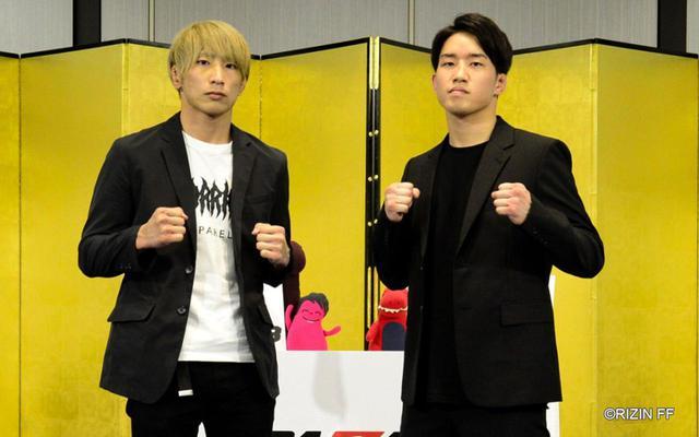 画像: 左:渡部修斗、右:朝倉海