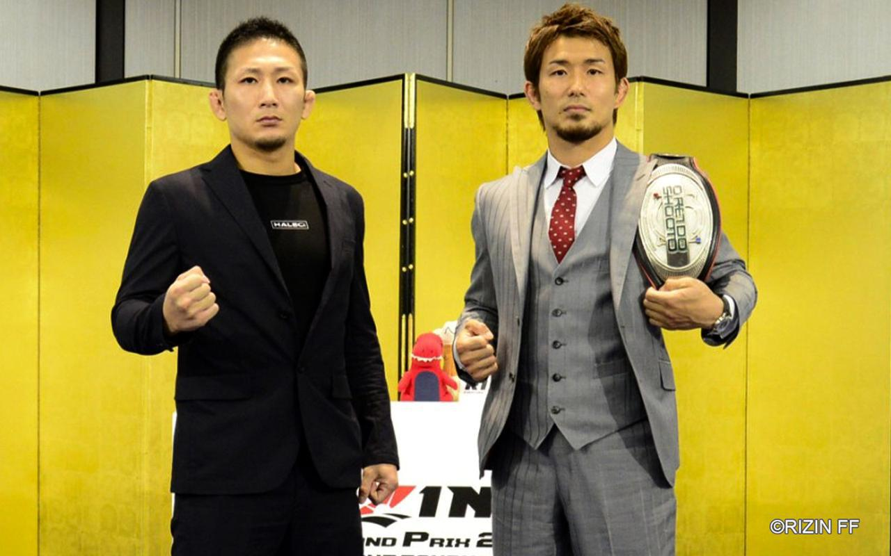 画像: 左:元谷友貴、右:岡田遼