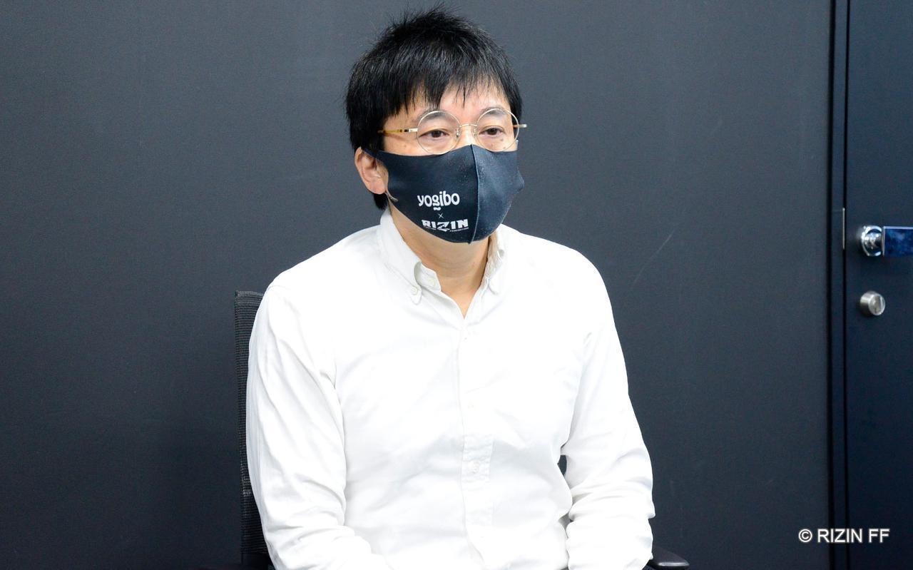 画像: RIZIN広報事業部長 笹原圭一