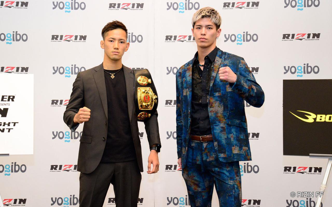 画像: 髙橋亮(左)と白鳥大珠(右)