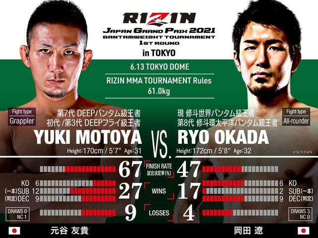 画像: Yuki Motoya vs Ryo Okada