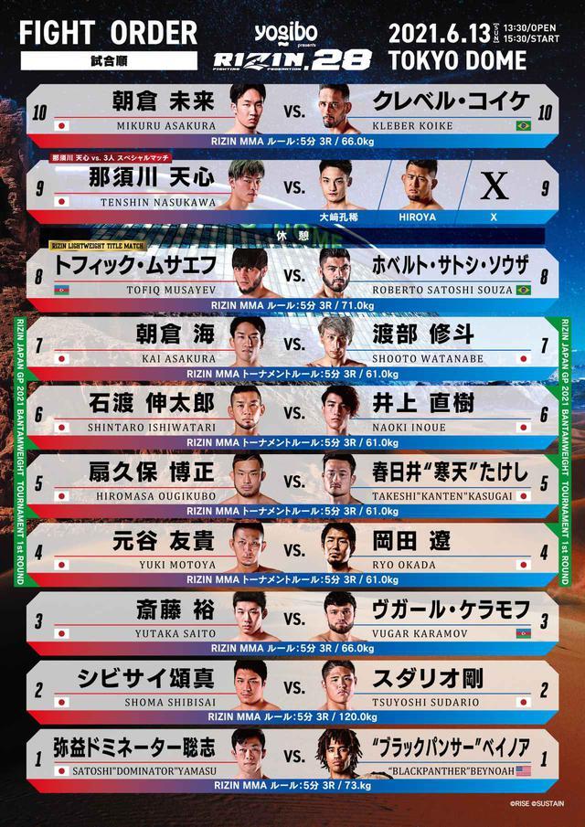 画像: 朝倉未来vs.クレベルがメイン!RIZIN.28 試合順が決定!