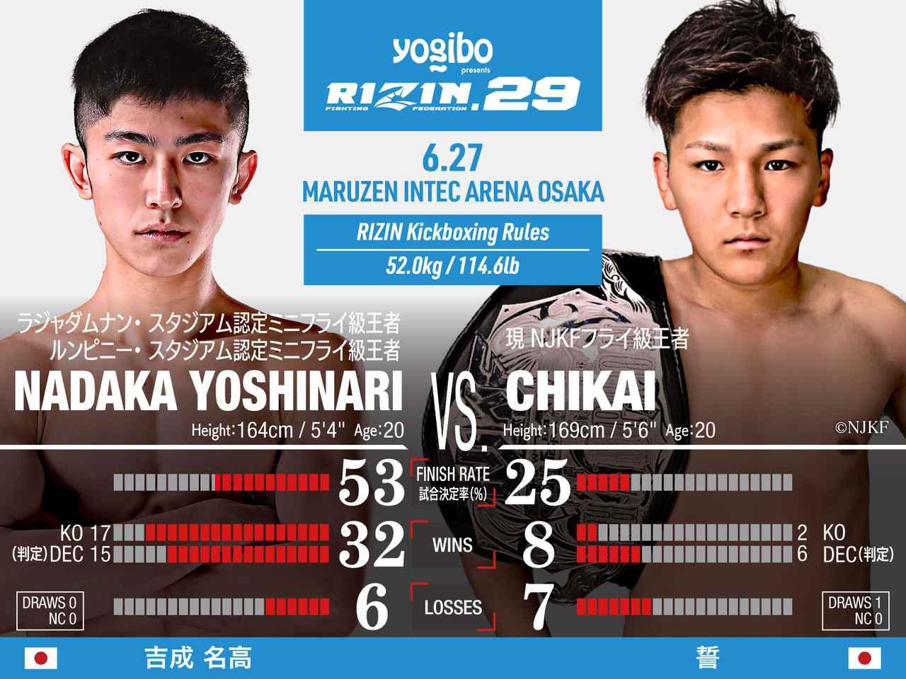 画像: 第3試合 スペシャルワンマッチ/吉成名高 vs. 誓