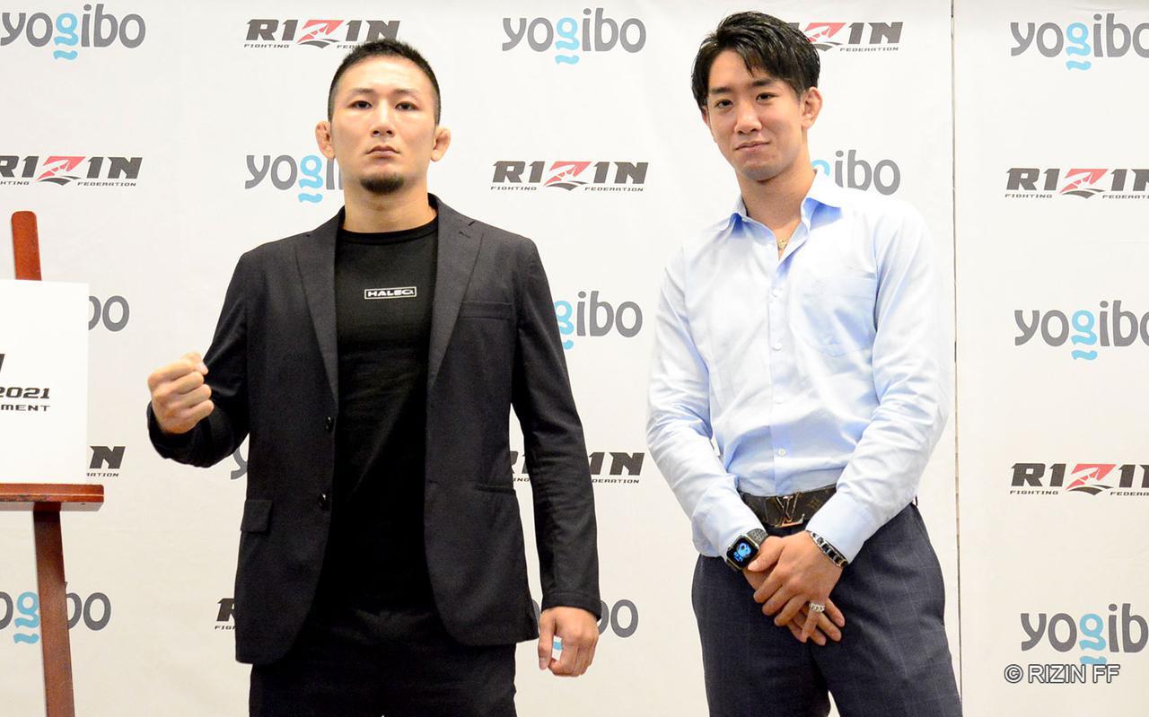 画像: 元谷友貴(左)、瀧澤謙太(右)