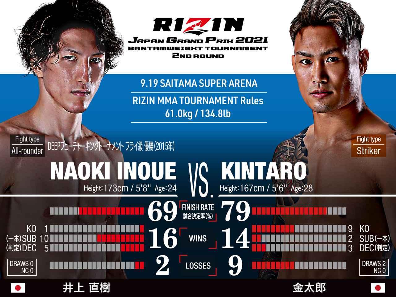 画像: 第9試合 バンタム級トーナメント 2回戦/井上直樹 vs. 金太郎