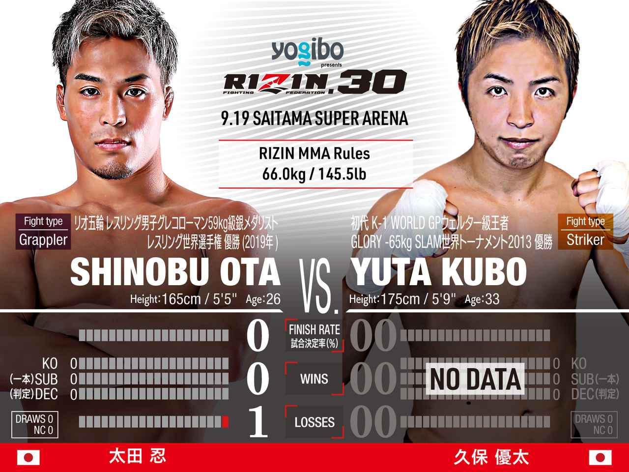 画像: Shinobu Ota vs Yuta Kubo