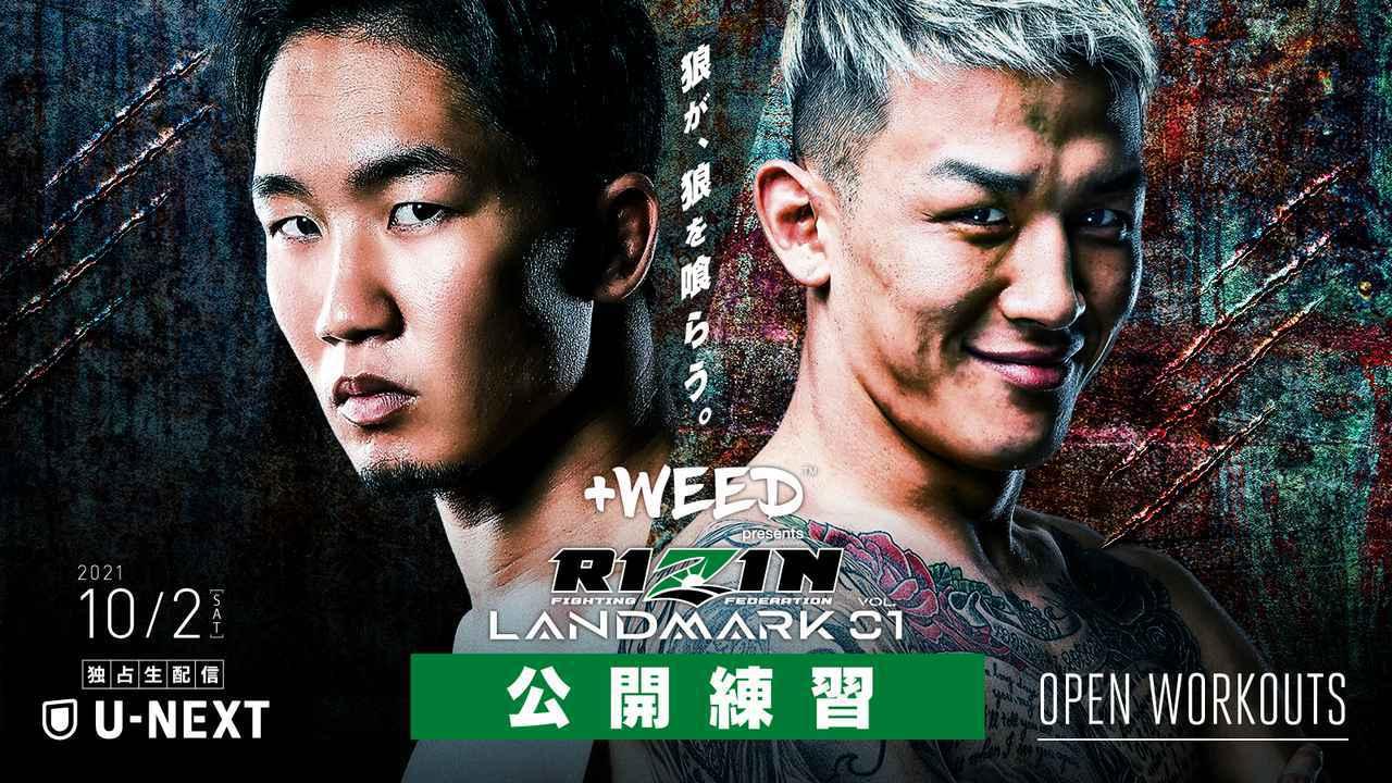 画像: 9/24(金)からスタート!+WEED presents RIZIN LANDMARK vol.1 公開練習をYouTubeに随時アップ! - RIZIN FIGHTING FEDERATION オフィシャルサイト