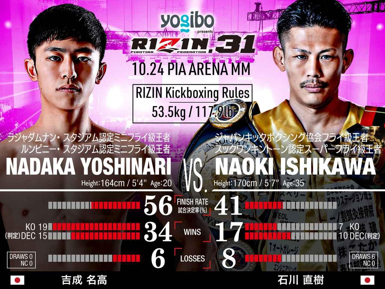 画像: 第4試合/スペシャルワンマッチ 吉成名高 vs. 石川直樹