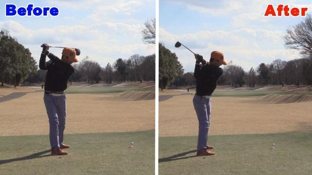画像: POINT2 トップで右ひざを緩めない