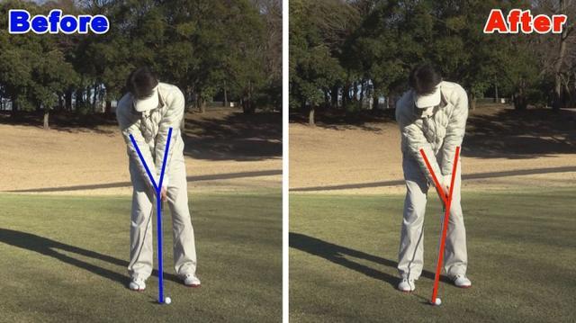 画像: POINT2 インパクトは左腕とクラブが一直線に