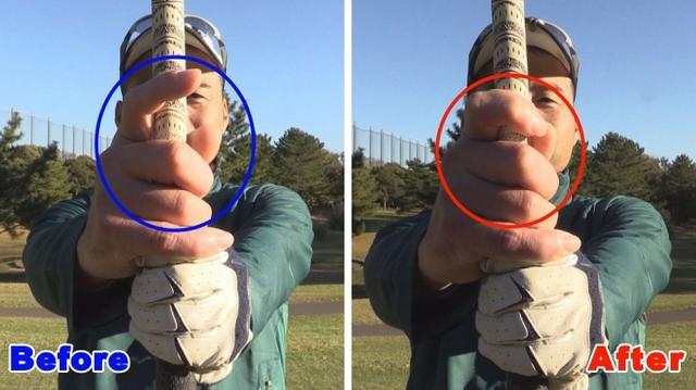 画像: POINT2 右手のグリップをルーズにしない