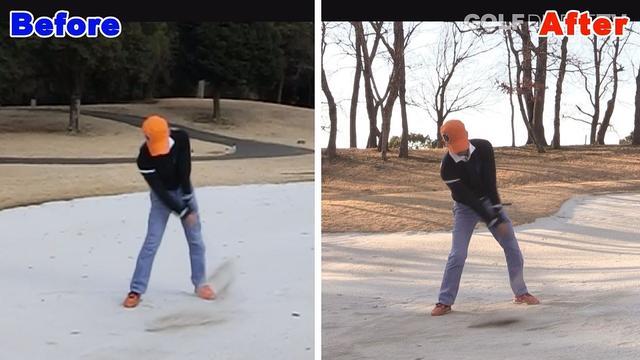 画像1: POINT3 バンカーショットはボールの手前を振る