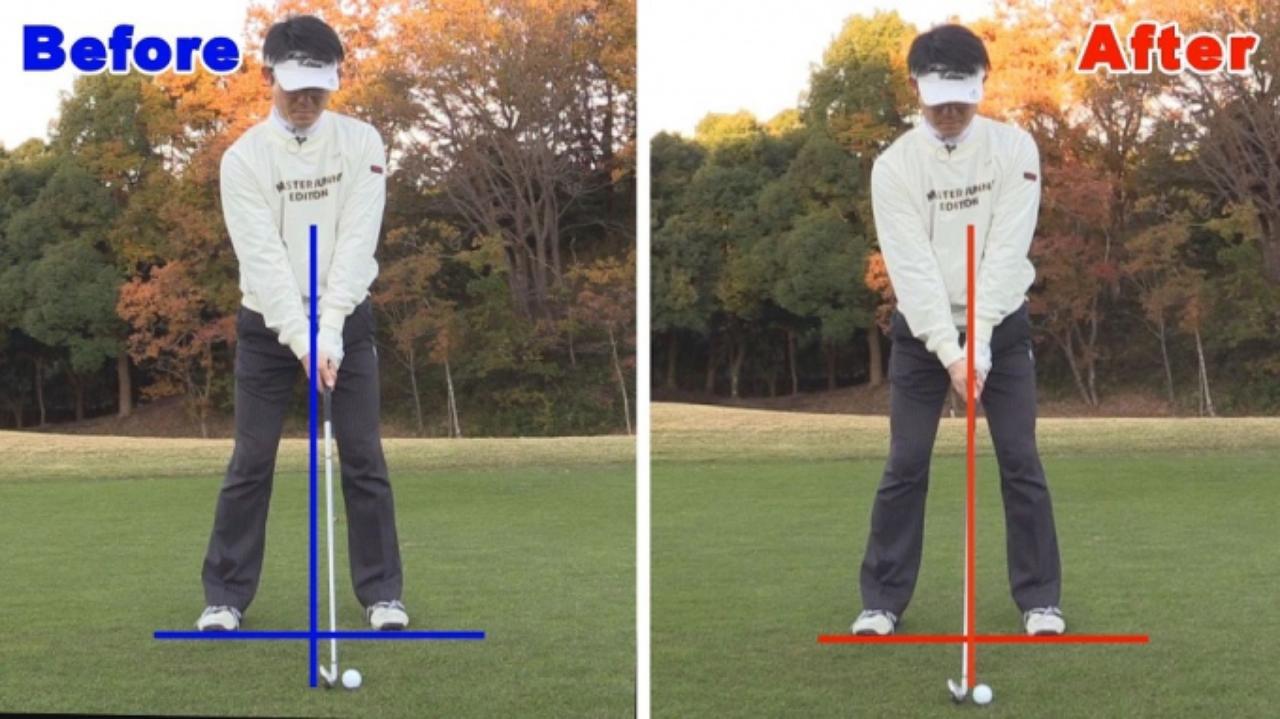 画像: POINT1 アドレスではボールの位置とフェースの向きに注意