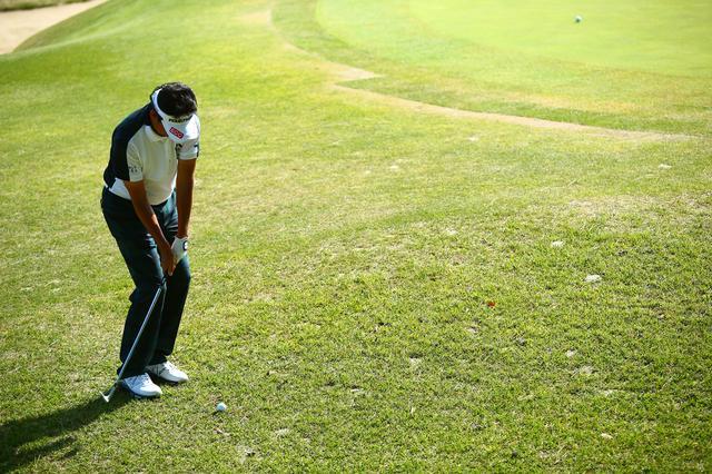 画像: 芝つきが悪いところもあり、グリーンをこぼすとアプローチは難しそうでした(ToT)/~~~