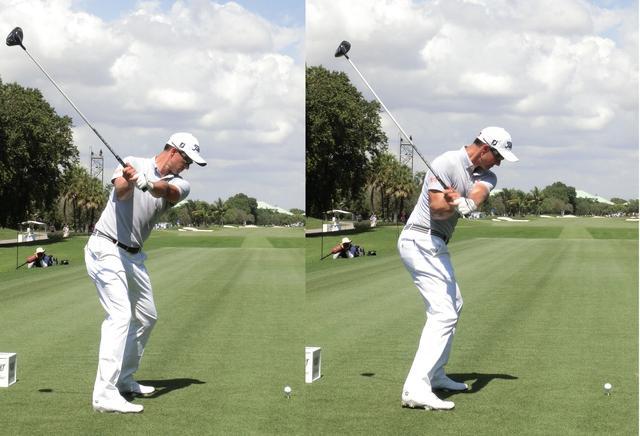 画像: 体が動くことで手とクラブの 位置が変わるだけ!